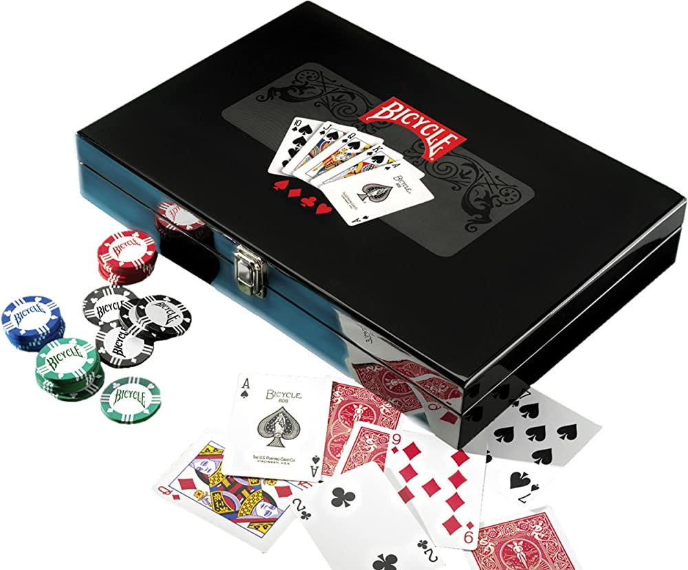 Fournier - Bicycle master poker set, multicolor - Maleta de poker, fichas y cartas