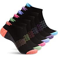 Womens Ankle Socks | 6 Pairs | Ladies No Show Athletic Socks | Running & Workout