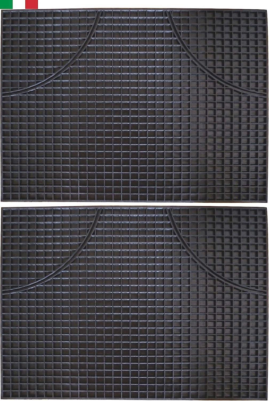 Cenni 32247 Auto Fußmatten Aus Gummi Rechteckig 47 X 35 Cm 2 Stück Auto