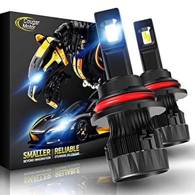 Cougar Motor X-Small 9007 LED Headlight Bulb, 10000Lm 6500K (Hi/Lo) All-in-One Conversion Kit - Cool White CREE, 360°Adjustable Beam: Automotive