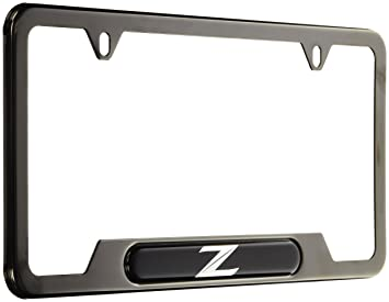 genuine nissan accessories 999mb zv000bp black pearl license plate frame with quot