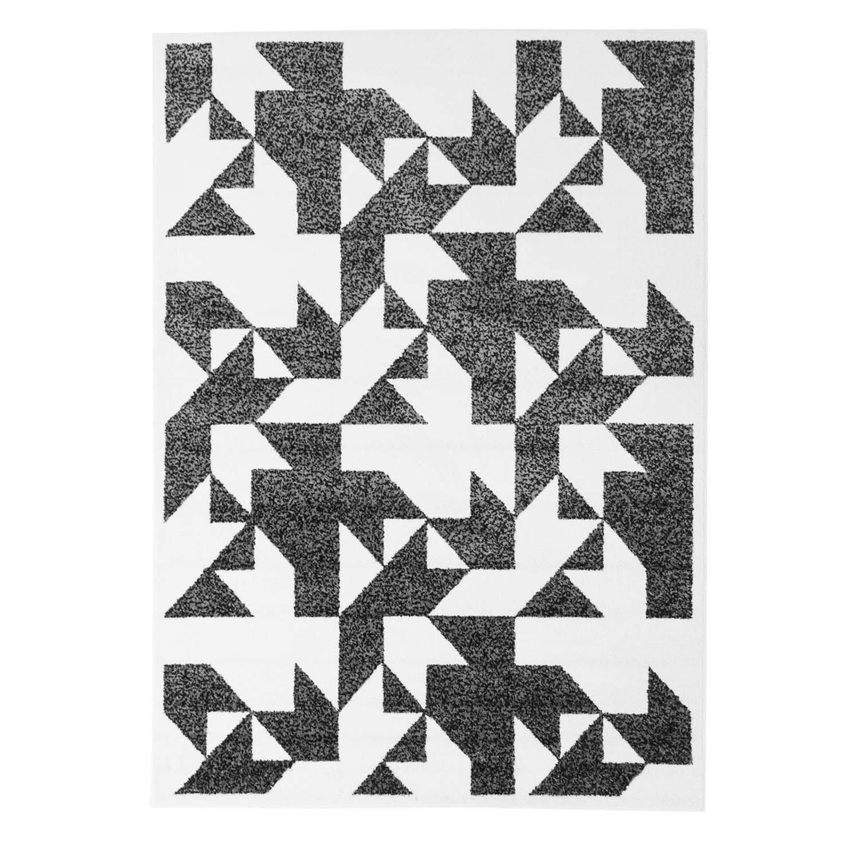 Moderner Moderner Moderner Designer Teppich in aktuellen Wohn Farben Öko Tex 100 zertifiziert MOD-1671-Blaume grün grau schwarz weiss 190x280 cm B0727QB3GF Teppiche 02e8b4
