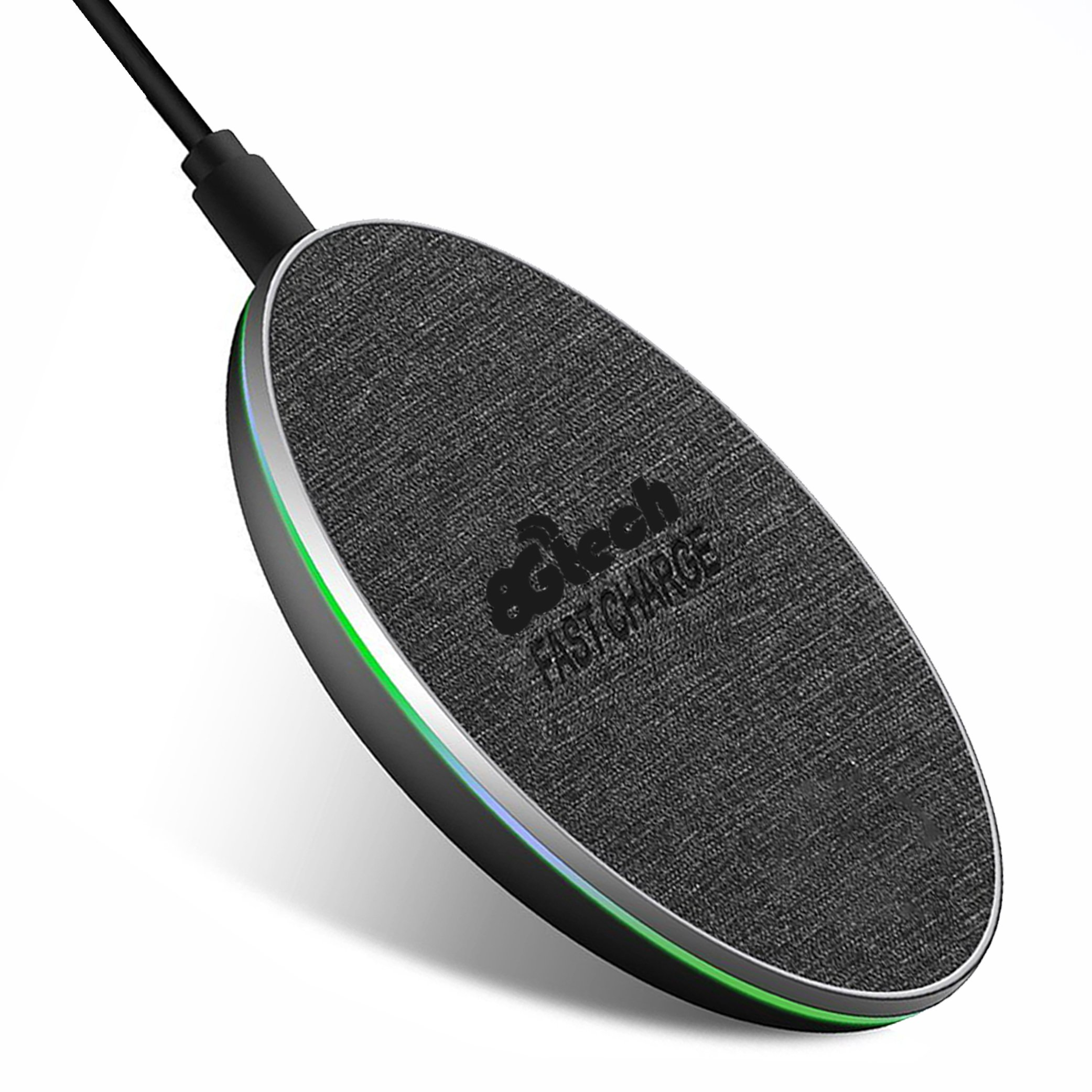 Fast Wireless Charger, (Compatible brand)iPhone X wireless charger, Fast Wireless Charging Pad for (Compatible brand)Samsung Galaxy Note 8/5 S8/S8 Plus S7/S7 Edge S6 Plus (No charger adapter) (Black)