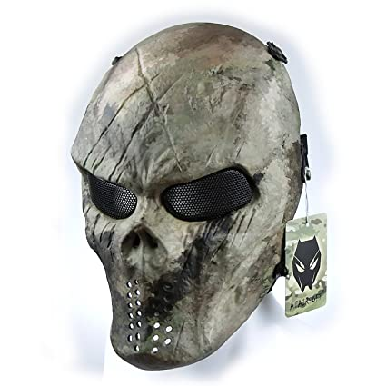 Outdoor Airsoft Paintball Tactical Full Face Protection Skull Skeleton Mask# MX