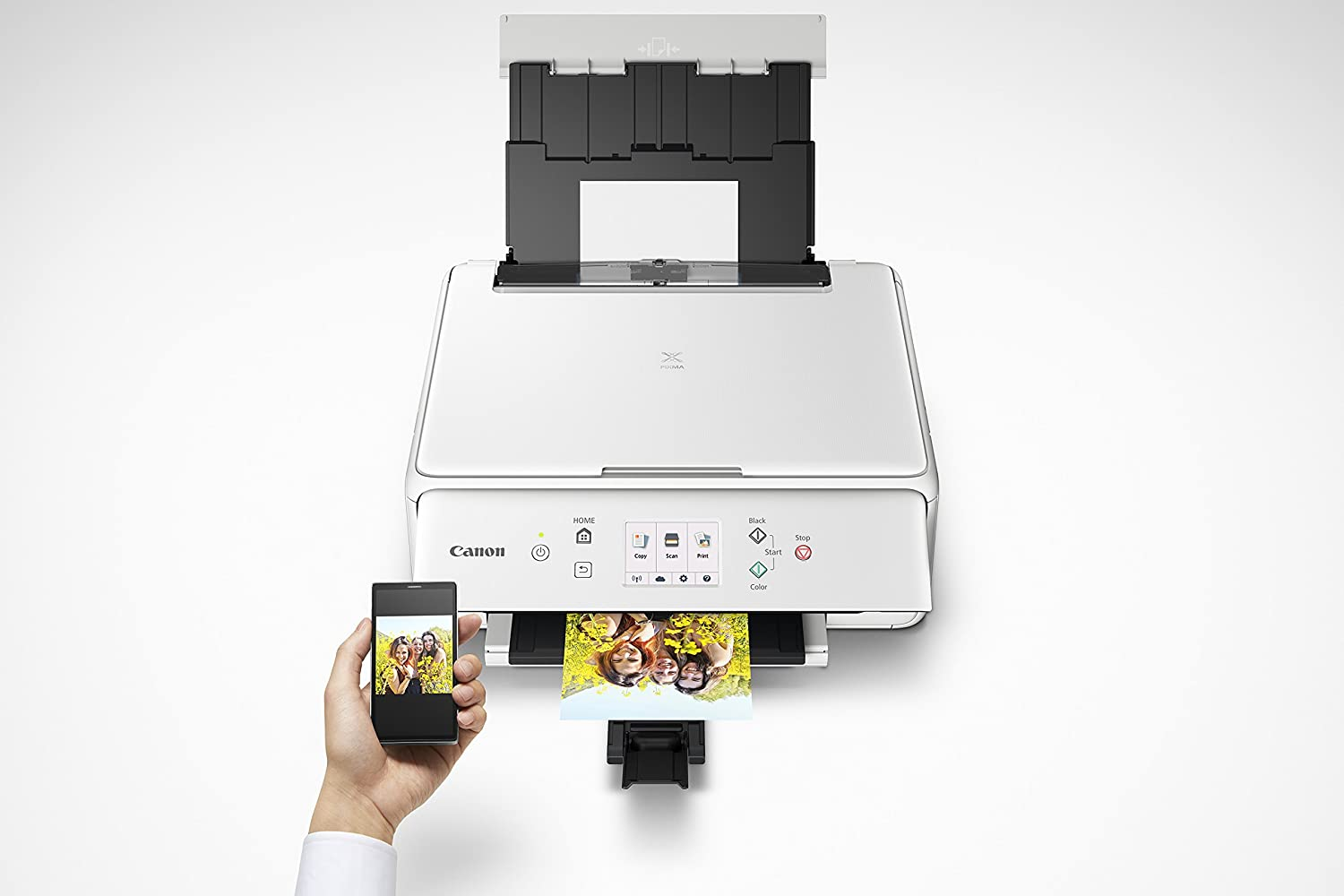 with Airprint White and Google Cloud Print compatible Canon TS6120 Wireless All-In-One Printer with Scanner and Copier: Mobile and Tablet Printing TM