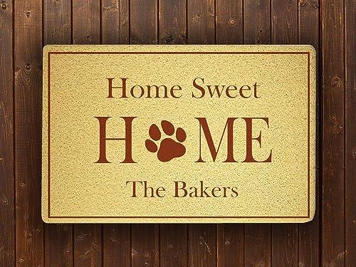 com home sweet home personalized custom design door mat