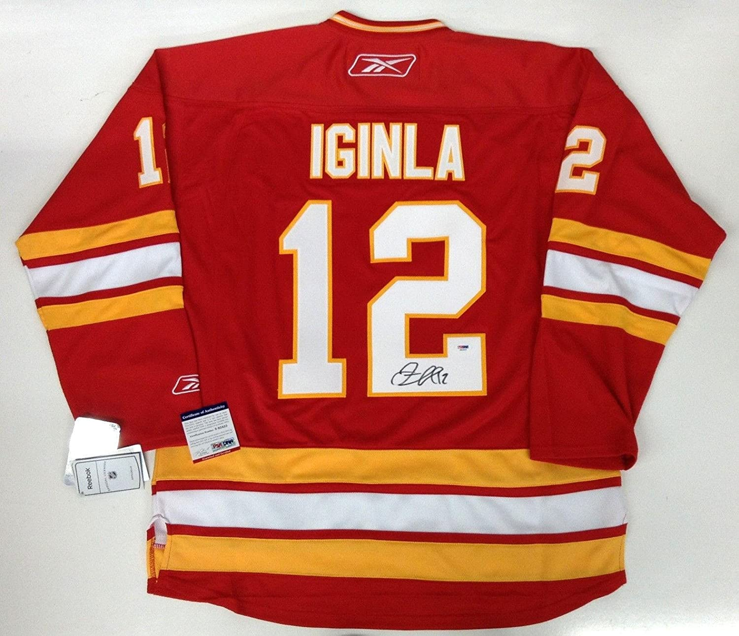 13c9baaf468 Jarome Iginla Signed Jersey - Rbk Coa - PSA DNA Certified - 5 at Amazon's  Sports Collectibles Store