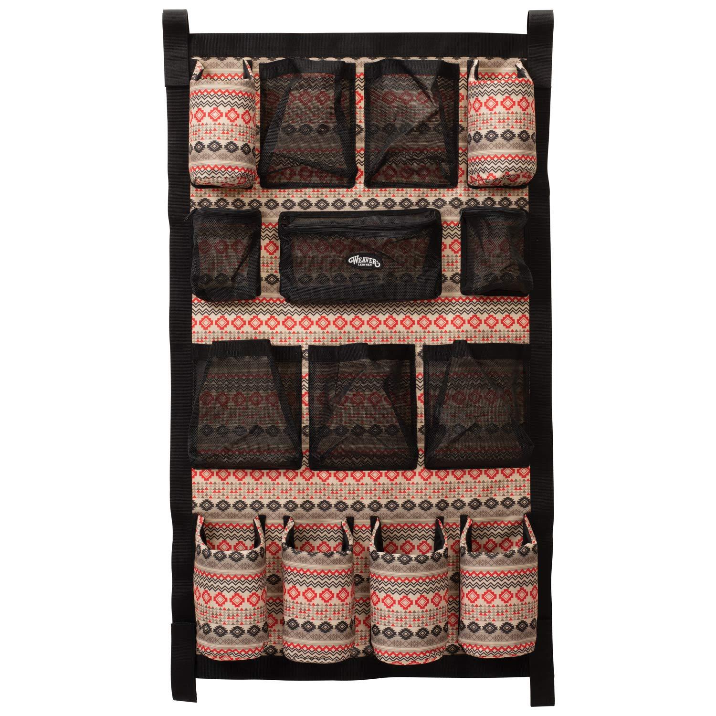 Weaver Leather Unisex-Adult Grooming Bag 65-2090-P19, Crimson Aztec, 23  W x 39  H