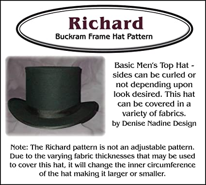 022066a27ae Amazon.com  Sewing Pattern - Richard Men s Top Hat Pattern ...