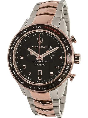 maserati Reloj De Pulsera Maserati Corsa R8873610004 Reloj Caballero Crono Acero 100M Acero: Amazon.es: Relojes