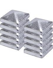 Capuchons de poteau clôture Capuchon de pyramide en acier galvanisé 71x 71mm