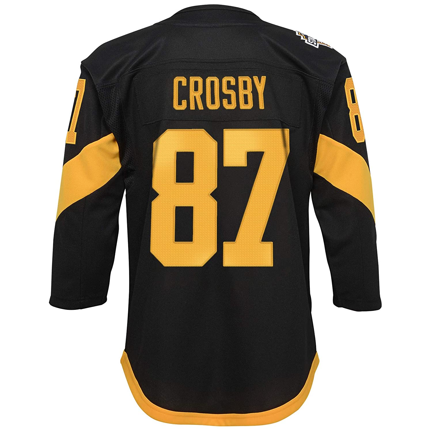 89cc9069 Amazon.com : Outerstuff Pittsburgh Penguins #87 Sidney Crosby Youth Stadium  Series 2019 Black Premier Jersey (Youth L/XL) : Clothing