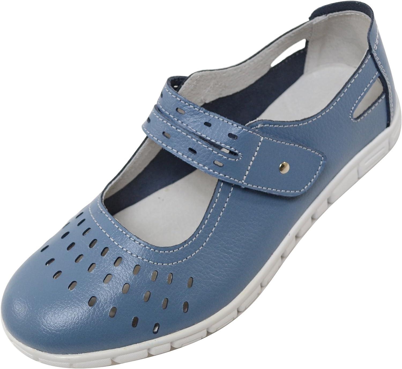 Ladies/Womens Leather EEE Wide Fitting
