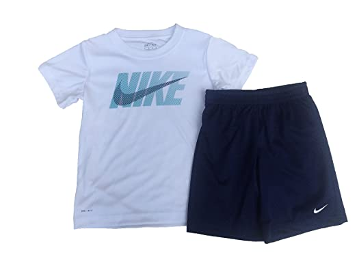9f96a032d Image Unavailable. Image not available for. Color: Nike Toddler Boys' Dri  Fit Short Sleeve T-Shirt and Short 2 Piece Set