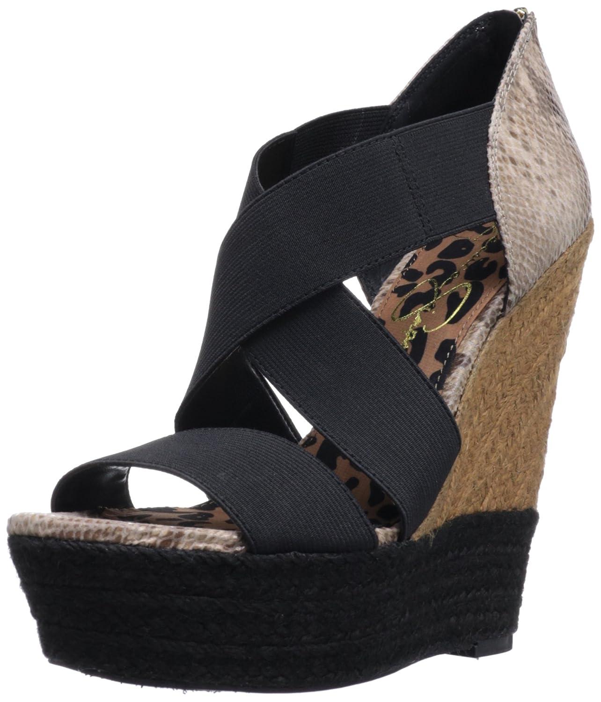 Jessica Simpson Women's Tamica Wedge Sandal B00A3ERDRG 9.5 B(M) US|Black Havana