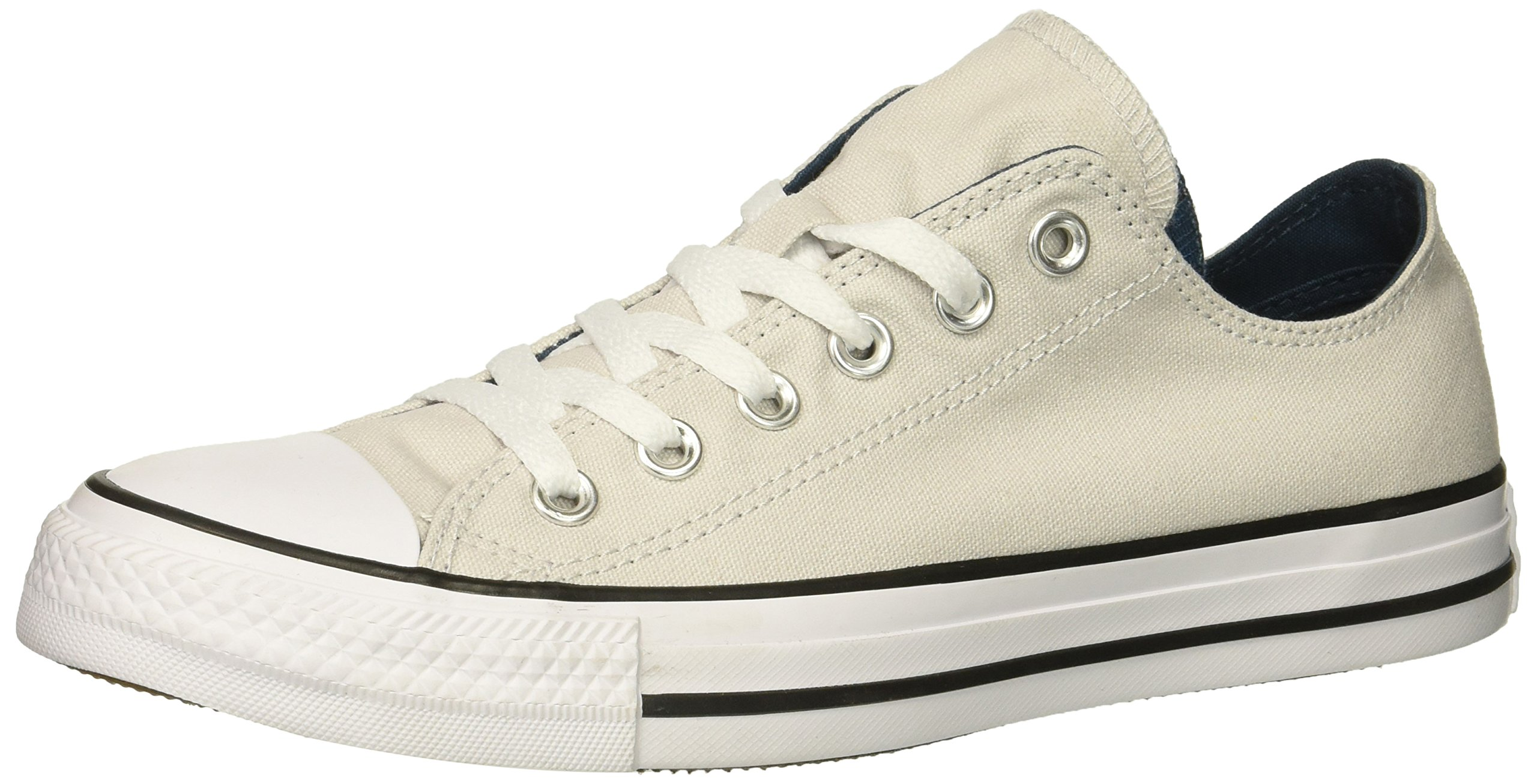 Converse Women's Chuck Taylor All Star Double Tongue Low Top Sneaker, Mouse/White/Black, 8 M US