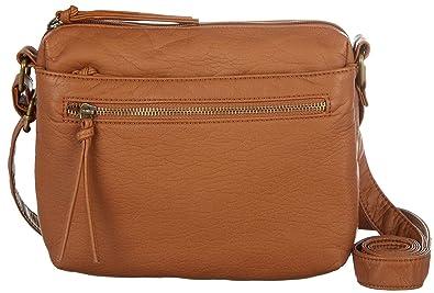 7368dca932f Bueno Washed Small Crossbody Handbag One Size Tan  Handbags  Amazon.com