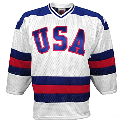 Amazon.com   1980 US Olympic  Miracle On Ice  Replica Home Jersey ... 25d7bc940
