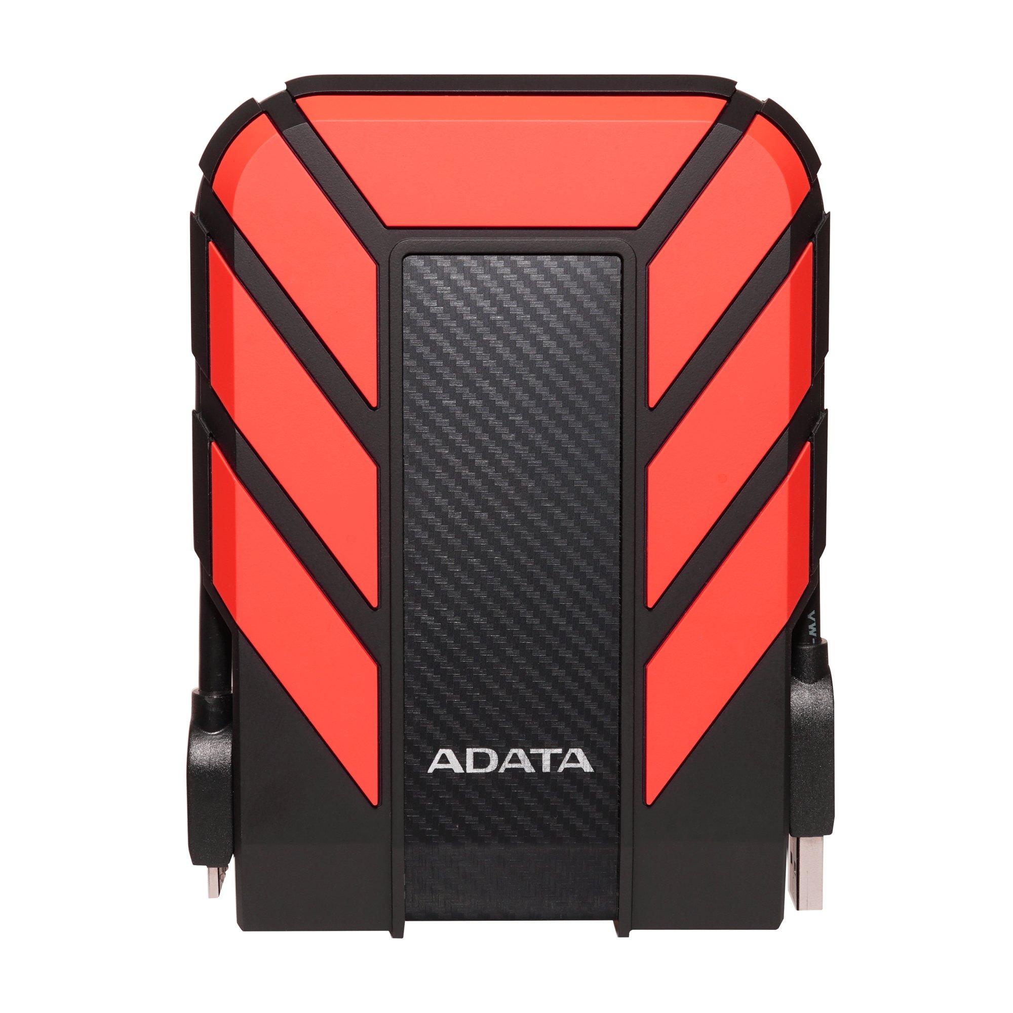 ADATA AHD710P-1TU31-CRD Pro 1TB USB 3.1 IP68 Waterproof/Shockproof/Dustproof Ruggedized External Hard Drive, Red