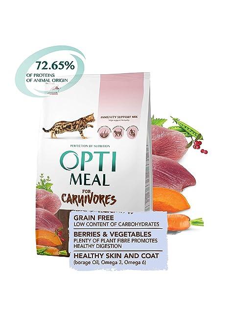 Amazon.com: Optimeal Carnivores Grano libre – Pato y ...