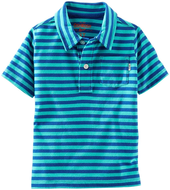 Turquoise-4 OshKosh B/'gosh 1166693Littleboys OshKosh BGosh Striped Polo Kid