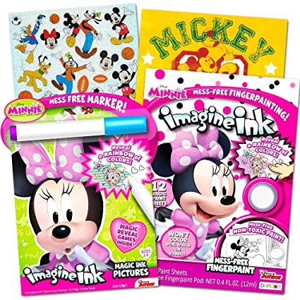 Amazon com: Disney Minnie Mouse Mess-Free Coloring Book and