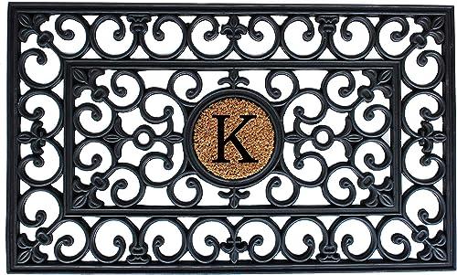 Calloway Mills 150011830K Rubber Monogram Doormat, 18 x 30 Letter K