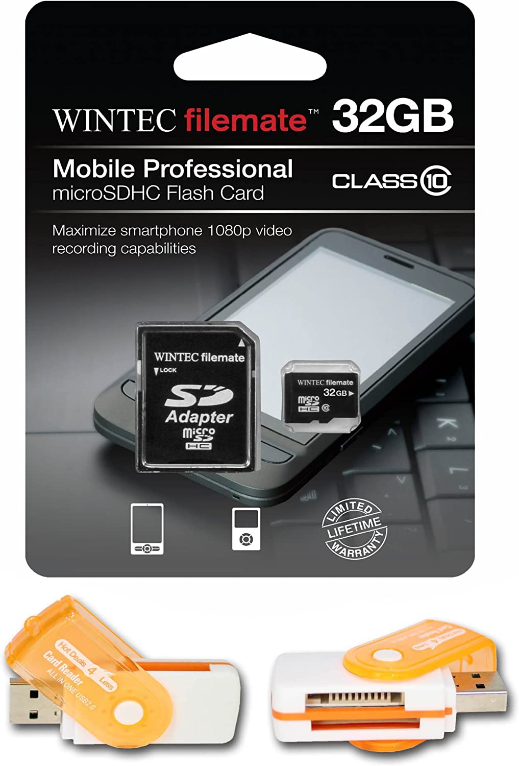 Comes with. A free Hot Deals 4 Less High Speed all in one Card Reader is included 32GB MicroSDHC Class 10 High Speed Memory Card Perfect Fit For Samsung Solstice SGH-A887 U460 Intensity II