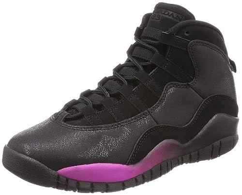 premium selection e5c55 7e869 Nike Unisex Kids  Air Jordan 10 Retro Gg Gymnastics Shoes, Black Fuchsia  Blast