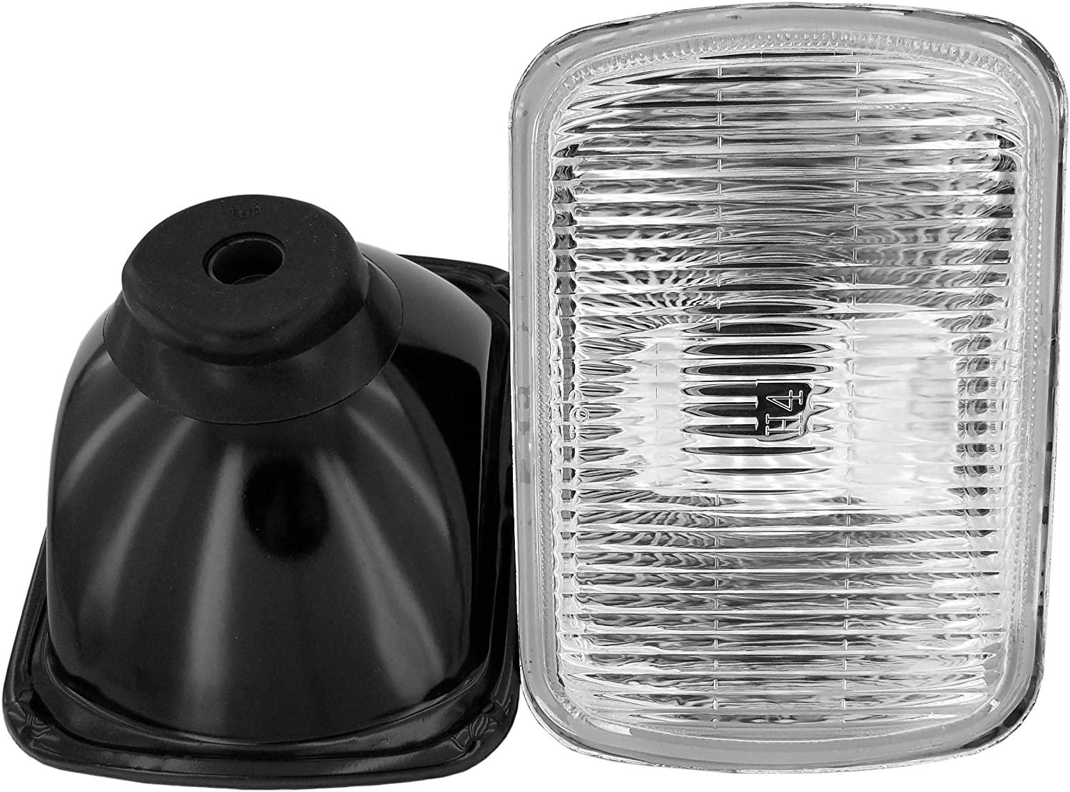 GS Power's OEM style 7 x 6 inch Glass Lens H4 HID LED Halogen High Low Beam Headlight Lamp Conversion Replacement Kit (2 pcs) | Lights not included | Also available in 4 x 6