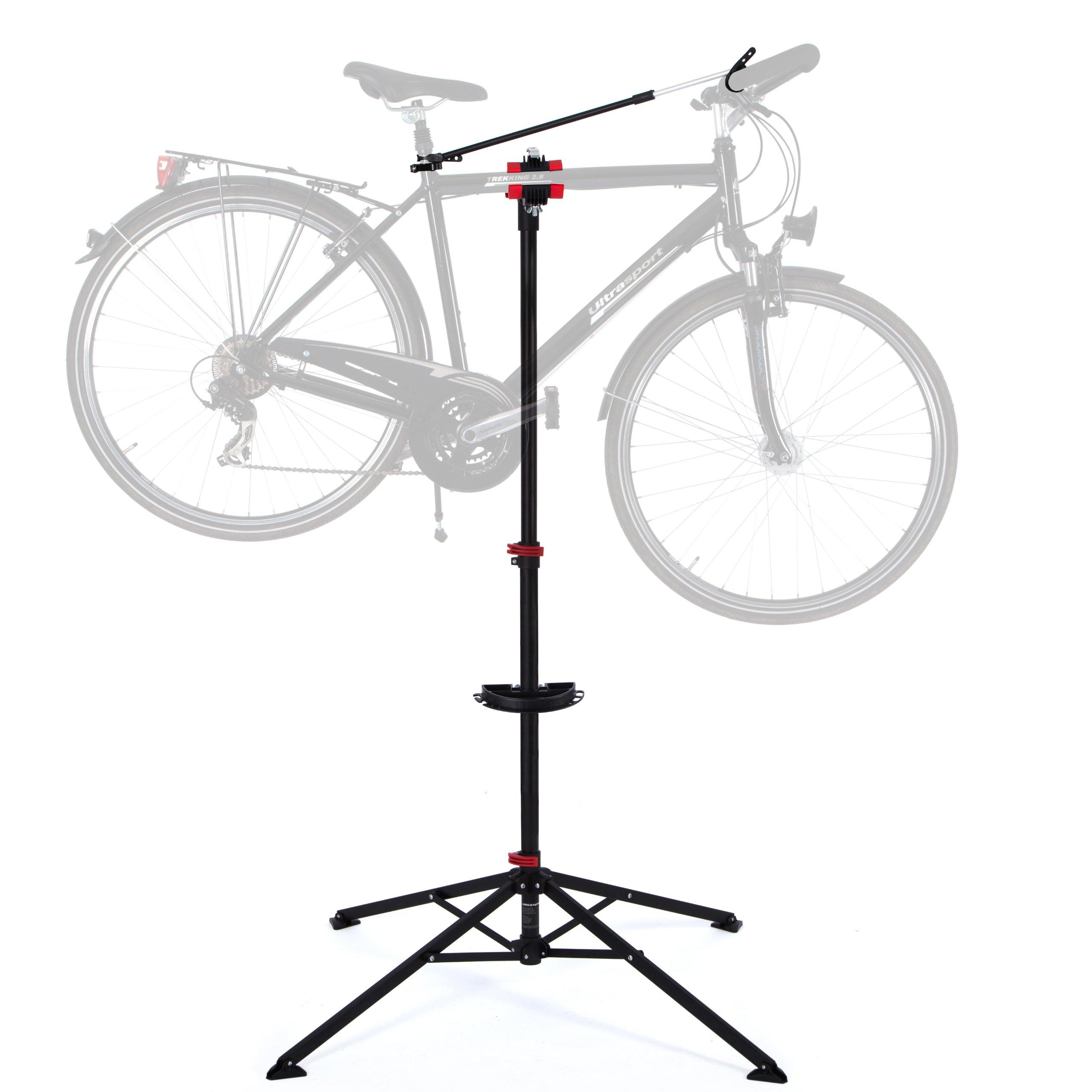 Ultrasport Caballete para bicicleta Expert, robusto caballete para bicicleta, también para bicicletas de montaña