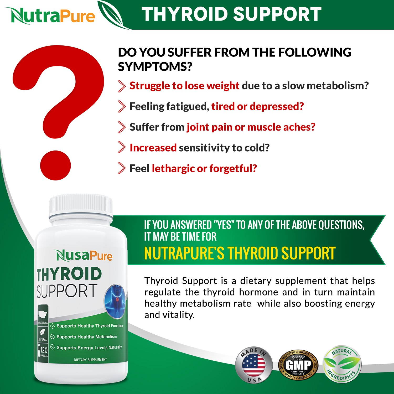 Full list of hypothyroid symptoms - Amazon Com Premium Thyroid Support Supplement Non Gmo 120 Caps For Hypothyroidism With Ashwaganda Iodine Zinc T3 Supplement Kelp Vitamin B12