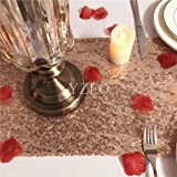 """YZEO 13""""*60"""" Sequin Rose Gold Table Runner For Wedding Party Events Festive Christmas"""