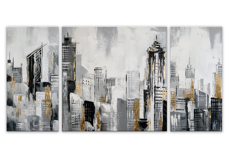 World Art TW60119 Aesthetic Wooden Frame City Landscape 70x140x3.5 cm Size: 28 x 56 x 2 Inch
