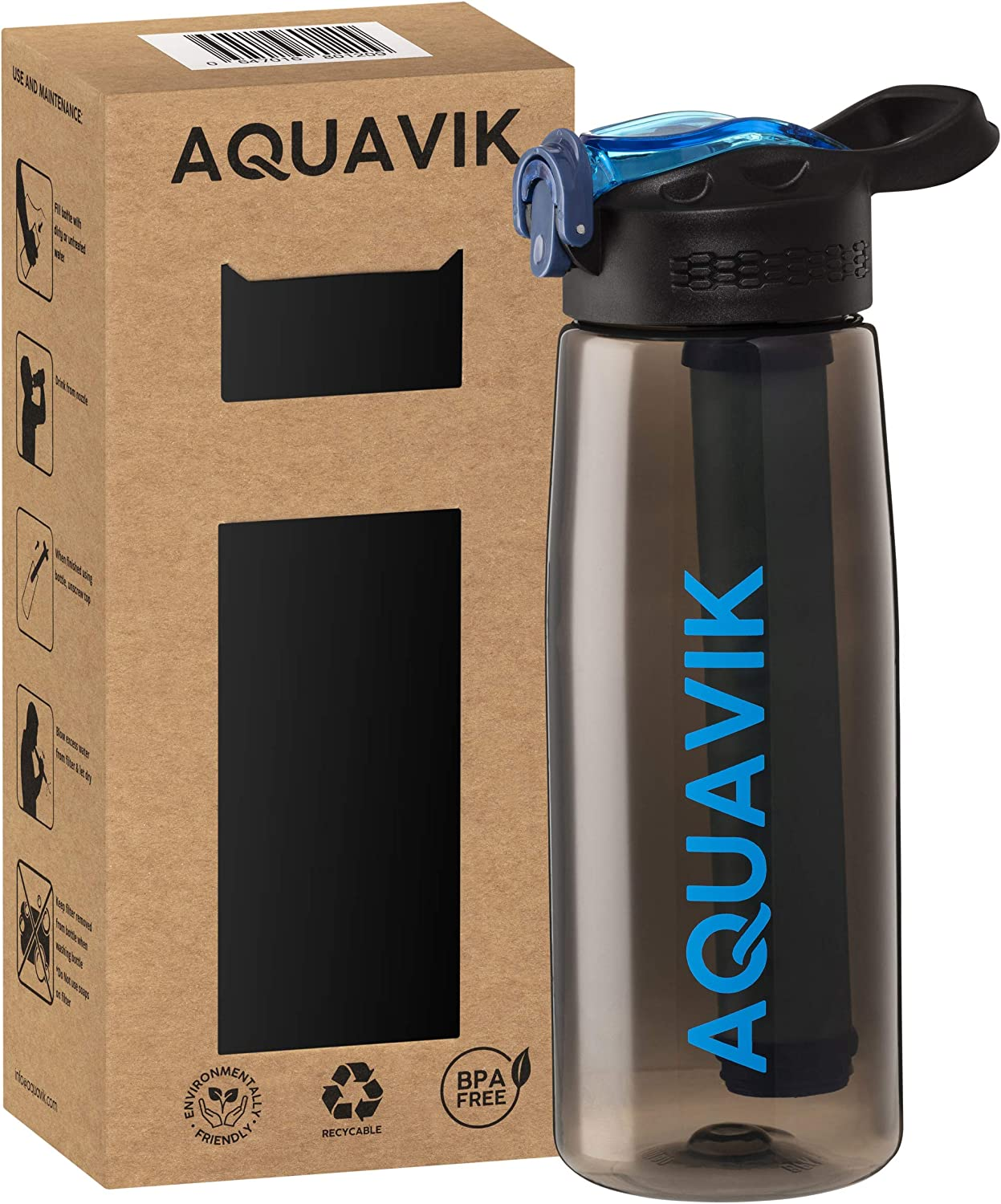AquaVik Portable Water Filter Bottle