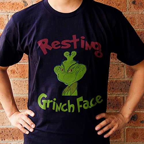 06203a67e2fc8 Amazon.com  How The Grinch Stole Christmas Resting Grinch Face T-Shirt  Christmas Hoodie Sweatshirt Long Sleeve  Handmade