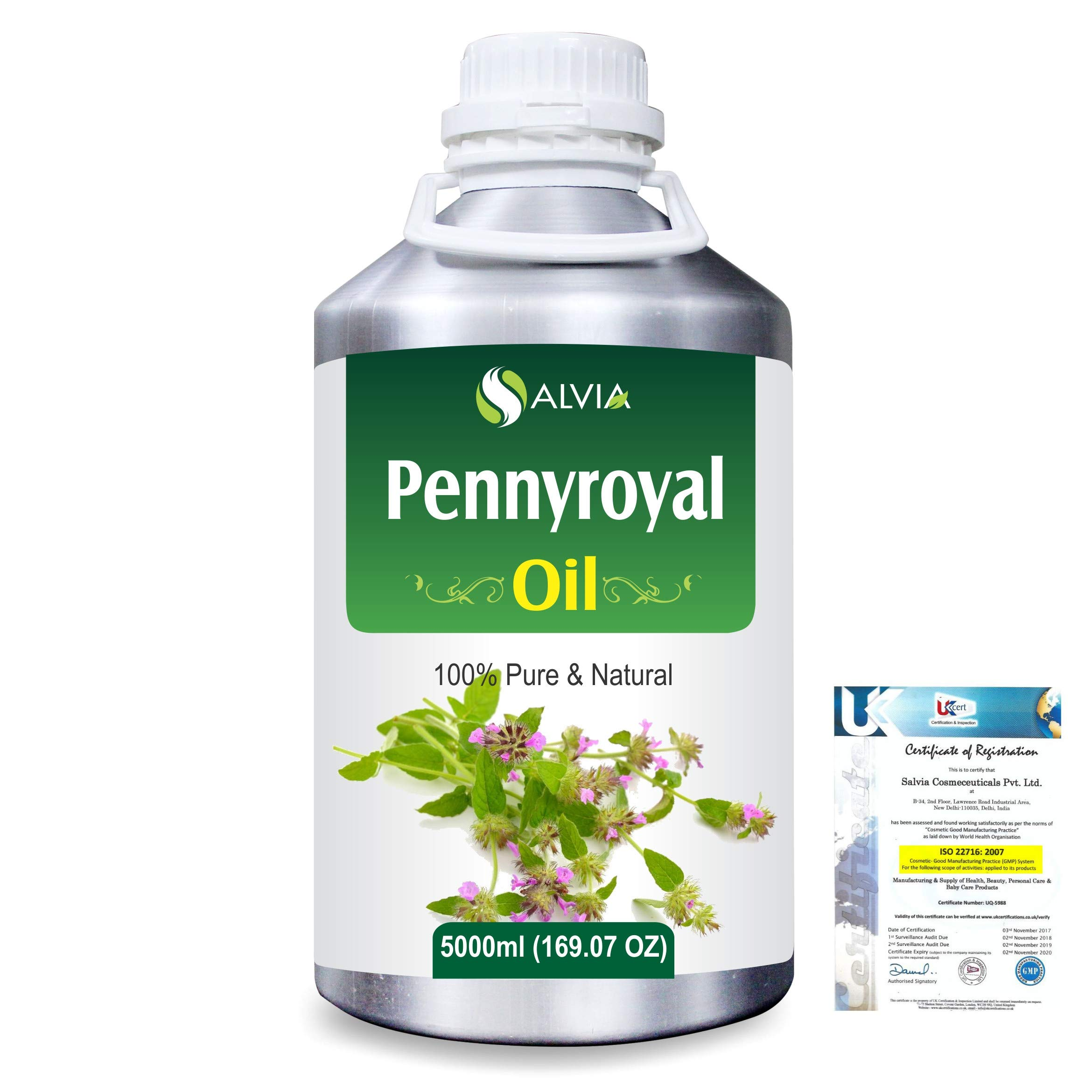 Pennyroyal (Mentha Pulegium) Pure Natural Aromatherapy Therapeutic Uncut Undiluted Essential Oil 5000ml/169 fl. oz. Express Shipping
