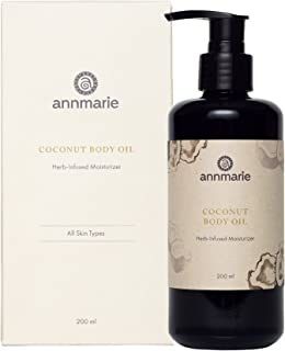product image for Annmarie Skin Care Coconut Body Oil - Herb Infused Moisturizer with Extra Virgin Coconut Oil + Rooibos (200 Milliliters, 6.8 Fluid Ounces)