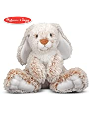 Melissa & Doug Burrow Bunny Rabbit Stuffed Animal (Washable Surface, Soft Fabric , 22.86 cm H x 25.4 cm L x 15.24 cm W)