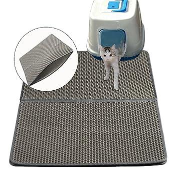 Foonee - Trampa para Arena de Gato, 2 Capas, Material Impermeable ya Prueba de orina, fácil de Limpiar, protección para Suelos y Mascotas