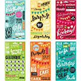 Me & My Big Ideas Pocket Pages Clear Stickers, 6 Sheets/Package, Birthday