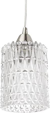 Elk Lighting 10343 1 Kersey Collection 1 Light Mini Pendant, Satin Nickel