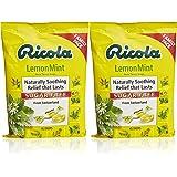 Ricola Sugar Free Lemon Mint Herbal Cough Suppressant Throat Drops, 45ct Bag (Pack of 2)