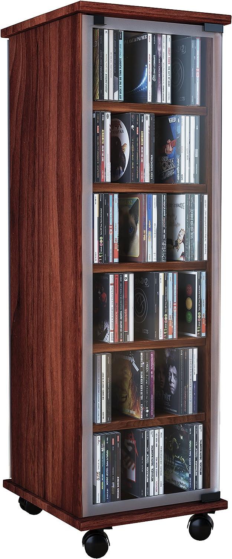 VCM Valenza-Torre para CD/DVD, para 300 CDs, Color Vetas de Nogal