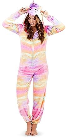 c3f1be042299 Cute Ladies Girls Tweens Hooded Super Soft All in One Animal Onesies ...