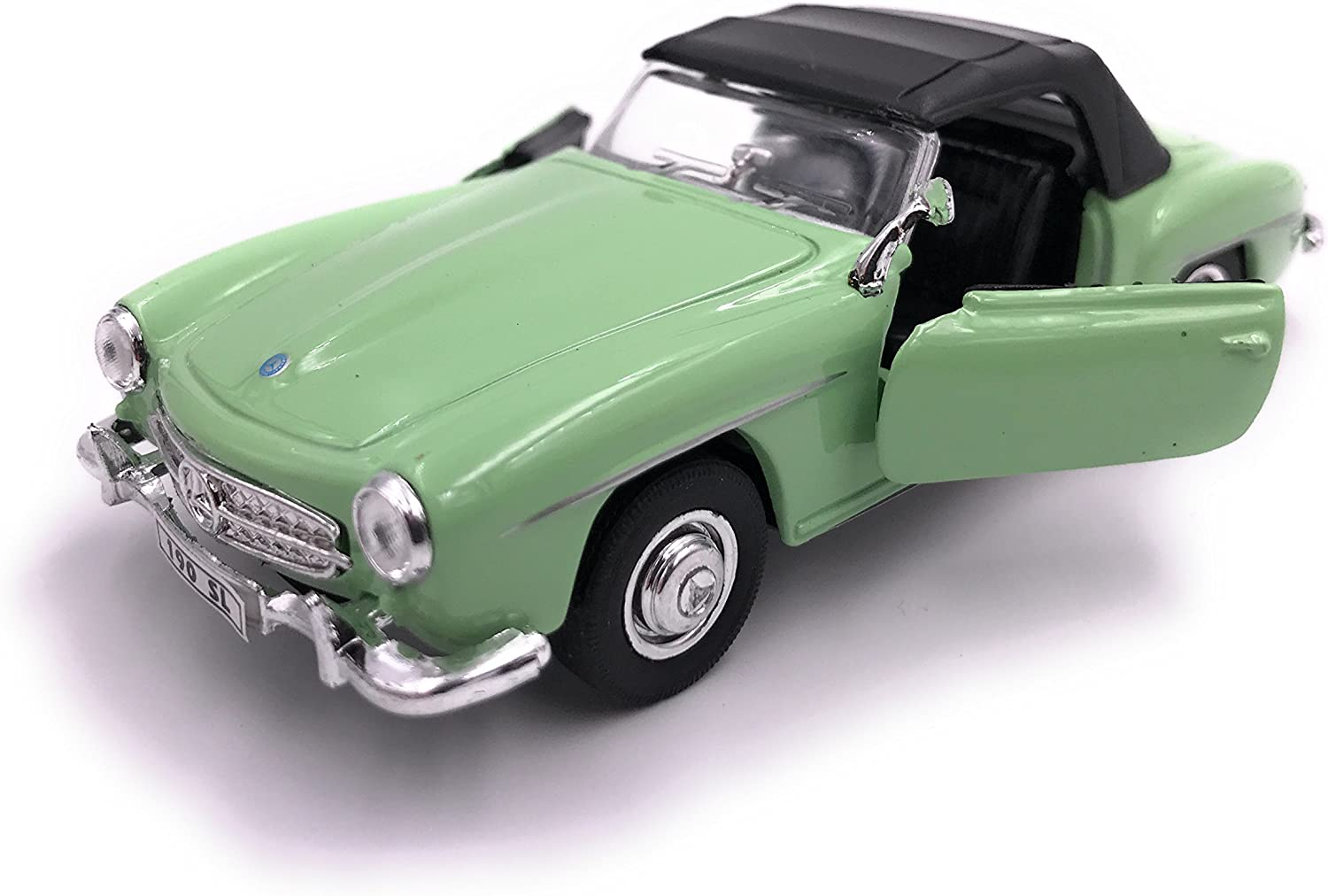 34-1 Welly Mercedes Benz 190 SL model car license product 1 39 Green closed