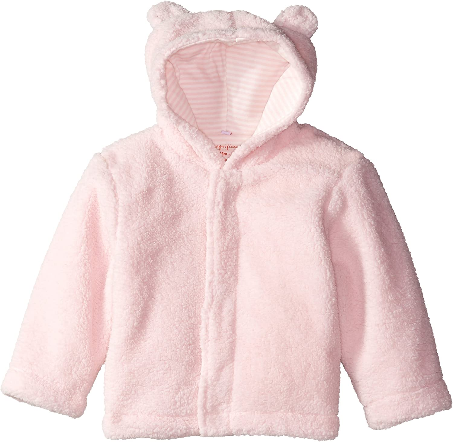 Magnificent Baby Baby Girls Smart Bear Pink Icing Hooded Fleece Jacket