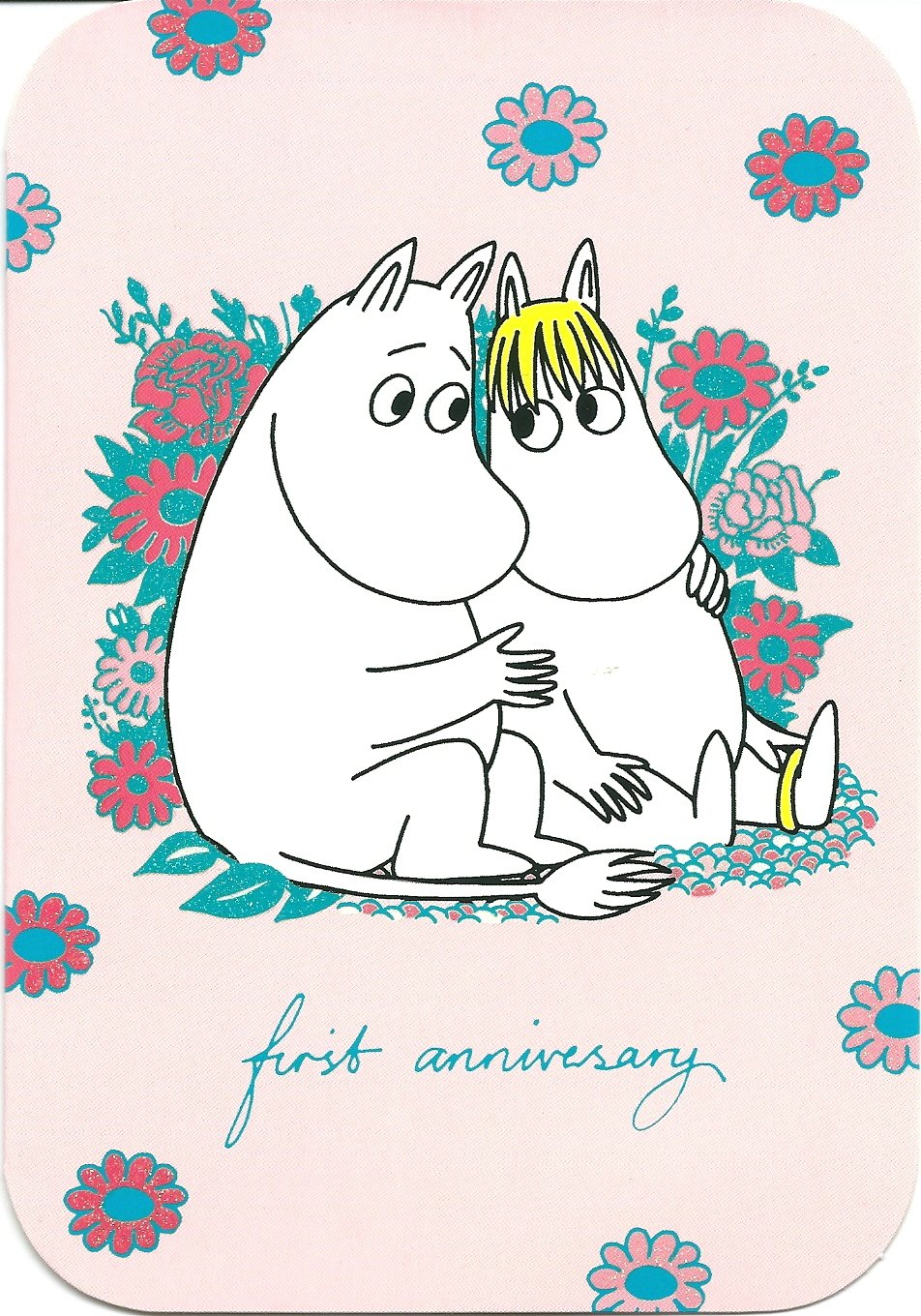 Moomin Card 1st Anniversary Greetings Card......
