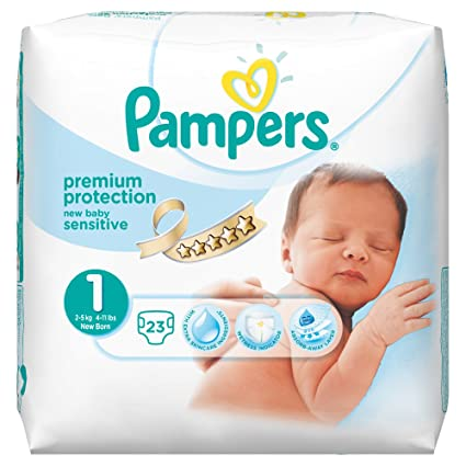 Pampers - New Baby Sensitive - Pañales - Talla 1 (2-5 kg)