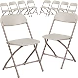 Amazon Price History for:Flash Furniture 10 Pk. HERCULES Series 800 lb. Capacity Premium Beige Plastic Folding Chair-p